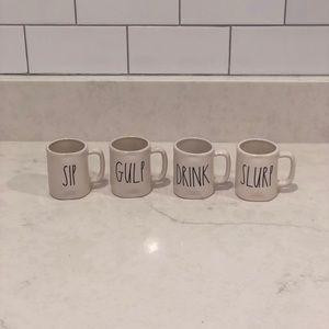 Rae Dunn set of 4 espresso cups
